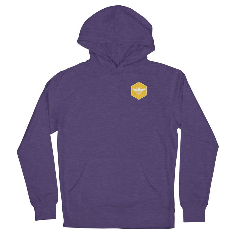Bee Badge Women's French Terry Pullover Hoody by DRACULAD Shop