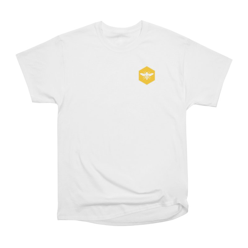 Bee Badge Men's Heavyweight T-Shirt by DRACULAD Shop
