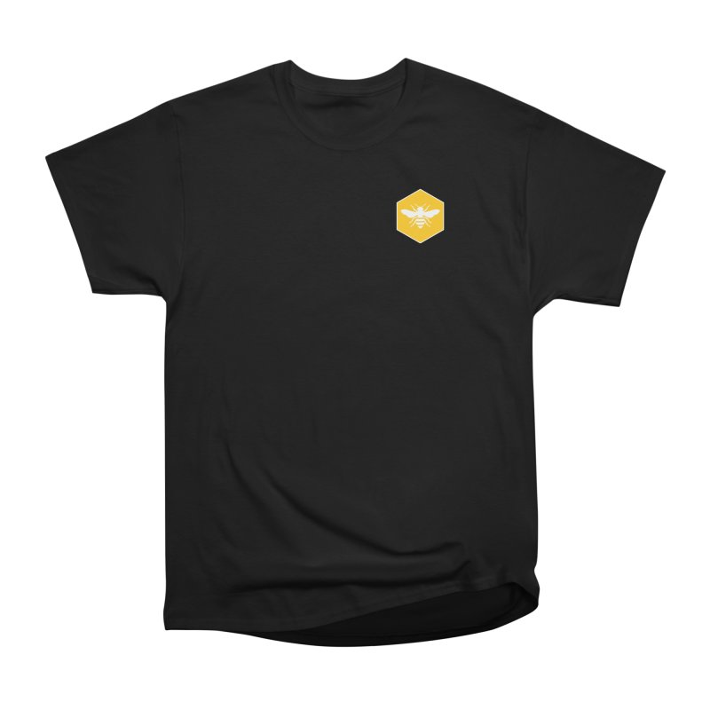 Bee Badge Women's Heavyweight Unisex T-Shirt by DRACULAD Shop