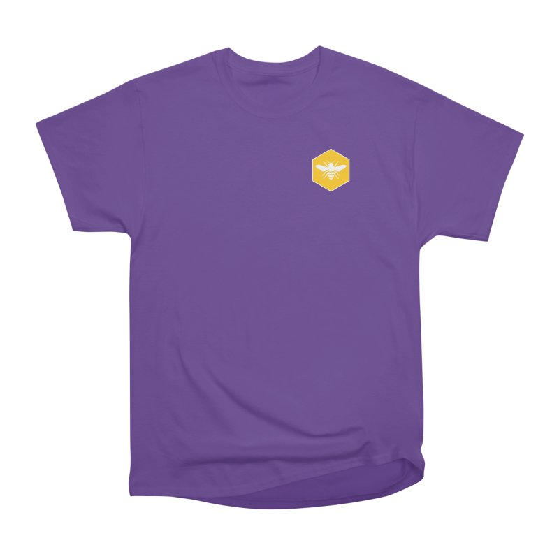 Bee Badge Men's Heavyweight T-Shirt by DRACULAD Shop