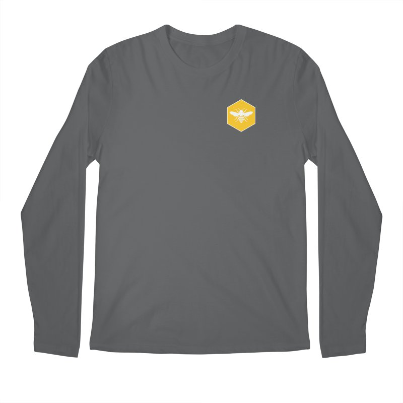 Bee Badge Men's Longsleeve T-Shirt by DRACULAD Shop