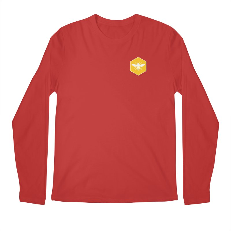 Bee Badge Men's Regular Longsleeve T-Shirt by DRACULAD Shop