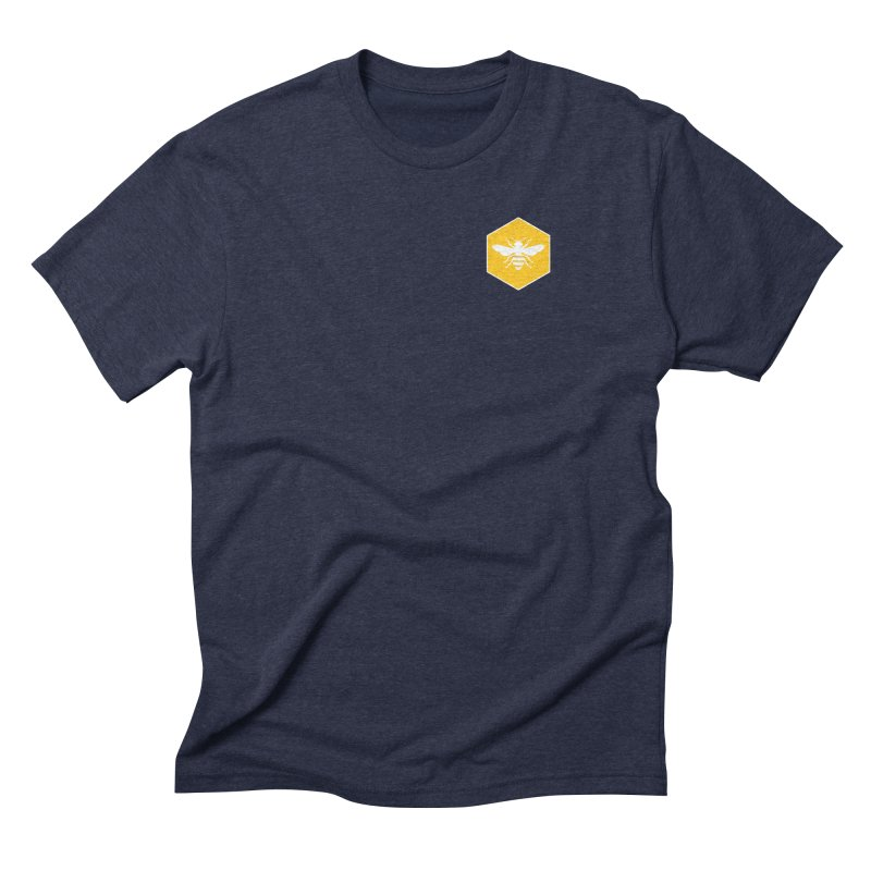 Bee Badge Men's Triblend T-Shirt by DRACULAD Shop
