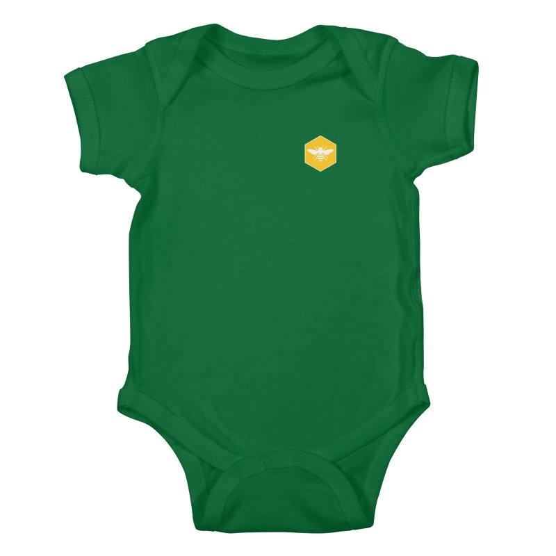 Bee Badge Kids Baby Bodysuit by DRACULAD Shop