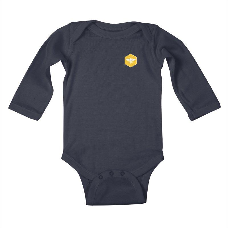 Bee Badge Kids Baby Longsleeve Bodysuit by DRACULAD Shop
