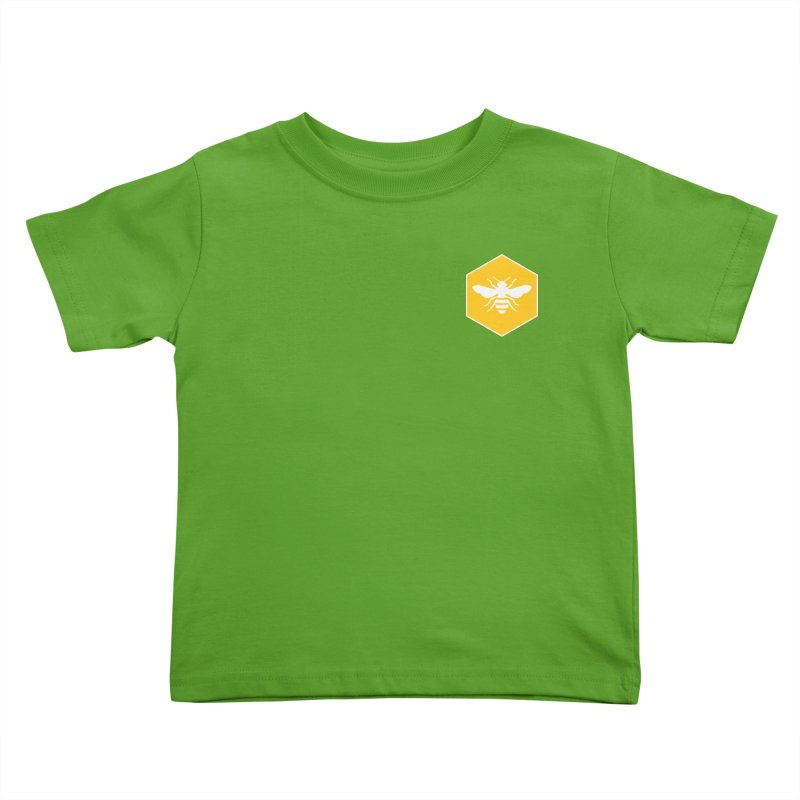 Bee Badge Kids Toddler T-Shirt by DRACULAD Shop