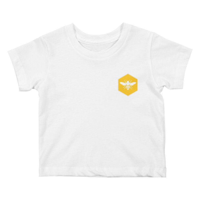 Bee Badge Kids Baby T-Shirt by DRACULAD Shop