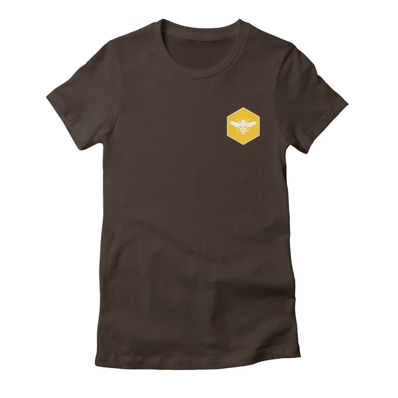 Bee Badge Women's Fitted T-Shirt by DRACULAD Shop