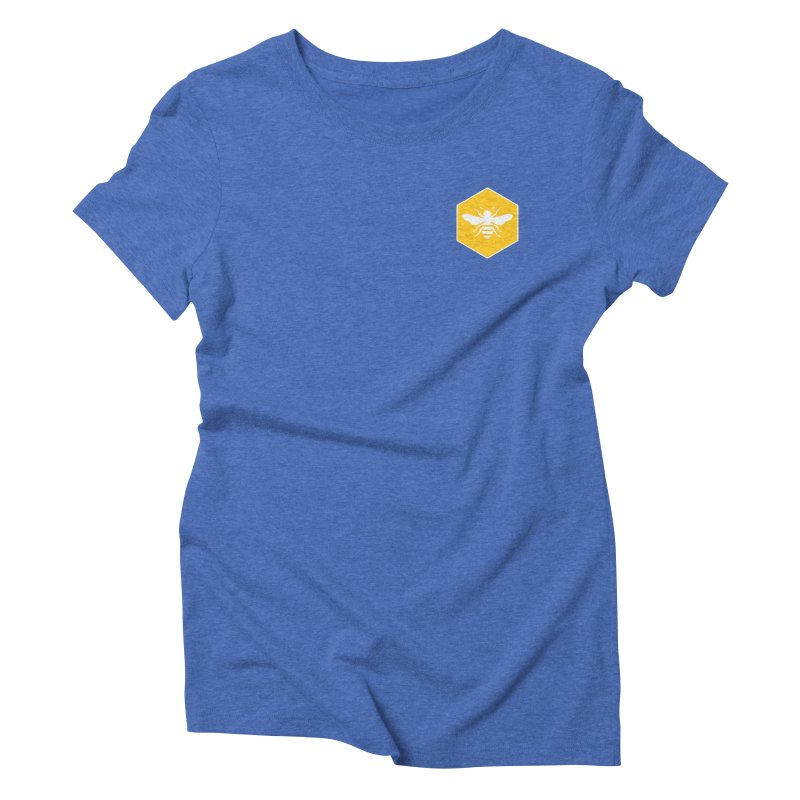 Bee Badge Women's Triblend T-Shirt by DRACULAD Shop