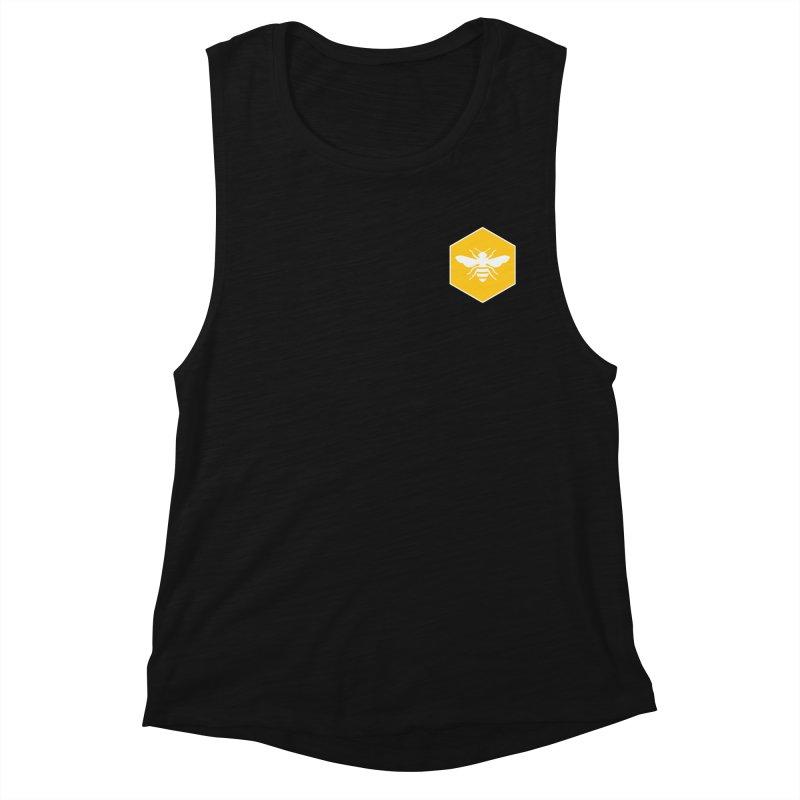 Bee Badge Women's Muscle Tank by DRACULAD Shop