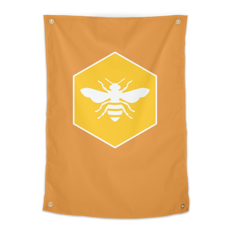 Bee Badge Home Tapestry by DRACULAD Shop