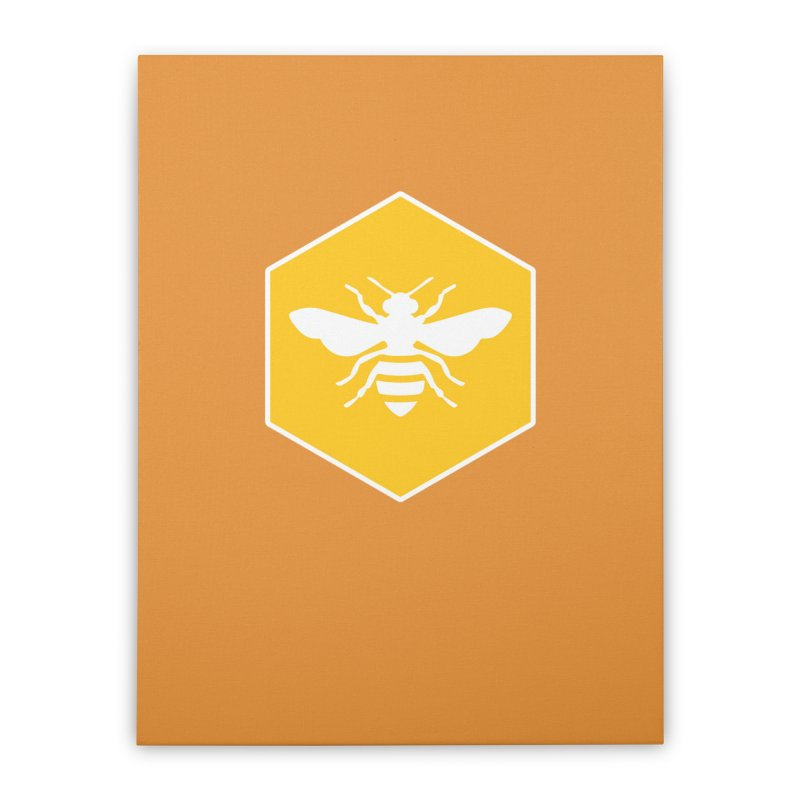 Bee Badge Home Stretched Canvas by DRACULAD Shop