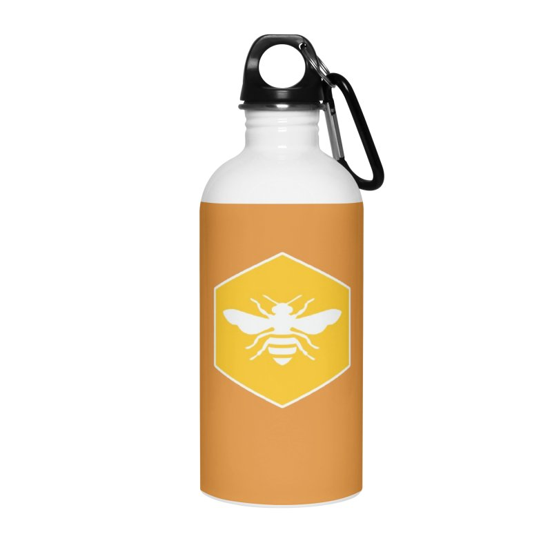 Bee Badge Accessories Water Bottle by DRACULAD Shop