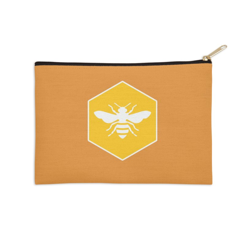 Bee Badge Accessories Zip Pouch by DRACULAD Shop