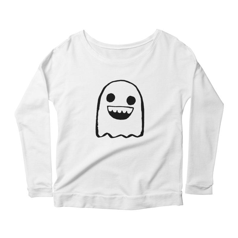 Nice Ghost Women's Scoop Neck Longsleeve T-Shirt by DRACULAD Shop