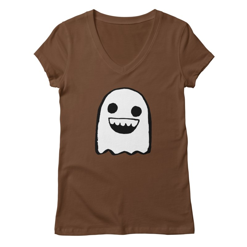 Nice Ghost Women's Regular V-Neck by DRACULAD Shop