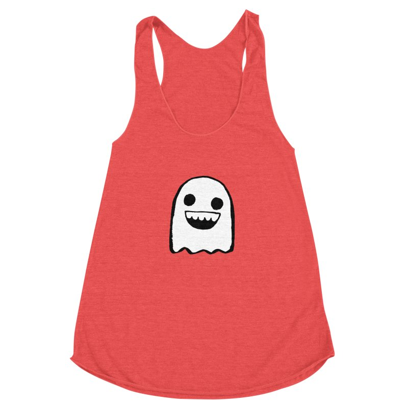 Nice Ghost Women's Racerback Triblend Tank by DRACULAD Shop
