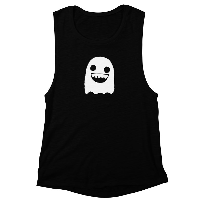 Nice Ghost Women's Muscle Tank by DRACULAD Shop