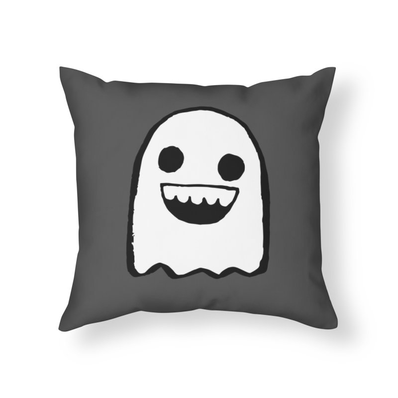 Nice Ghost Home Throw Pillow by DRACULAD Shop