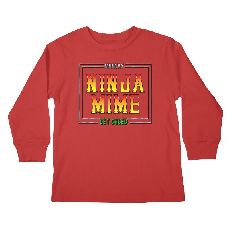 Ninja Mime Kids Longsleeve T-Shirt by DVCustoms's Artist Shop