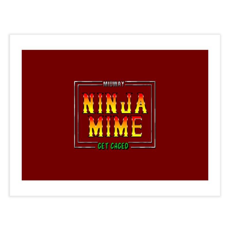 Ninja Mime Home Fine Art Print by DVCustoms's Artist Shop