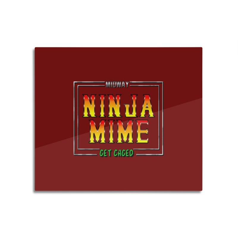 Ninja Mime Home Mounted Aluminum Print by DVCustoms's Artist Shop