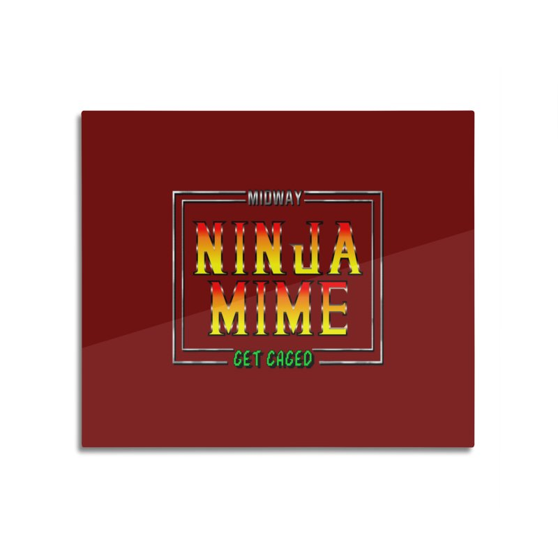 Ninja Mime Home Mounted Acrylic Print by DVCustoms's Artist Shop