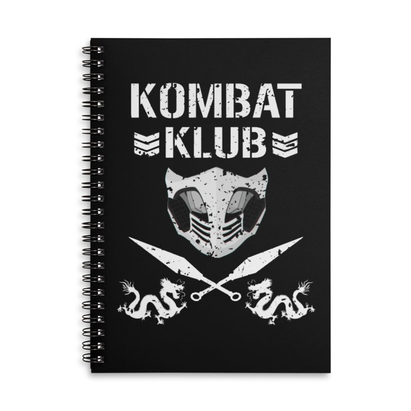 KOMBAT KLUB Accessories Lined Spiral Notebook by DVCustoms's Artist Shop