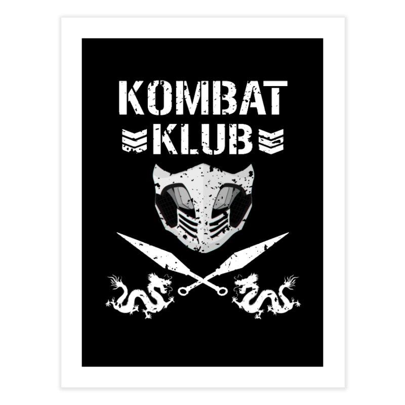 KOMBAT KLUB Home Fine Art Print by DVCustoms's Artist Shop