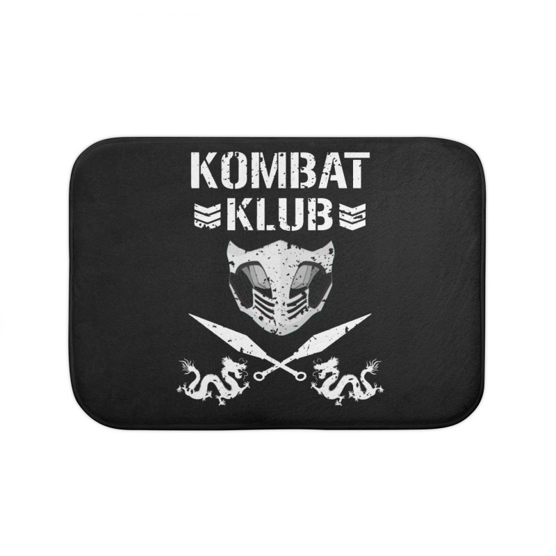 KOMBAT KLUB Home Bath Mat by DVCustoms's Artist Shop