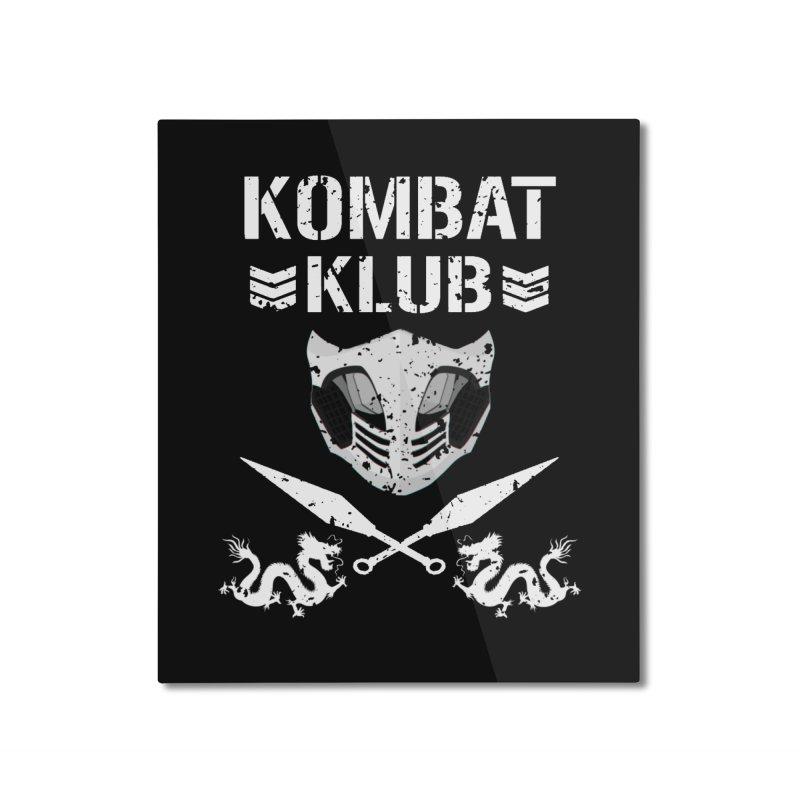KOMBAT KLUB Home Mounted Aluminum Print by DVCustoms's Artist Shop