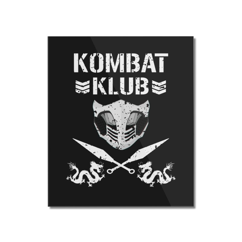 KOMBAT KLUB Home Mounted Acrylic Print by DVCustoms's Artist Shop
