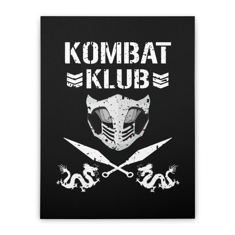 KOMBAT KLUB Home Stretched Canvas by DVCustoms's Artist Shop