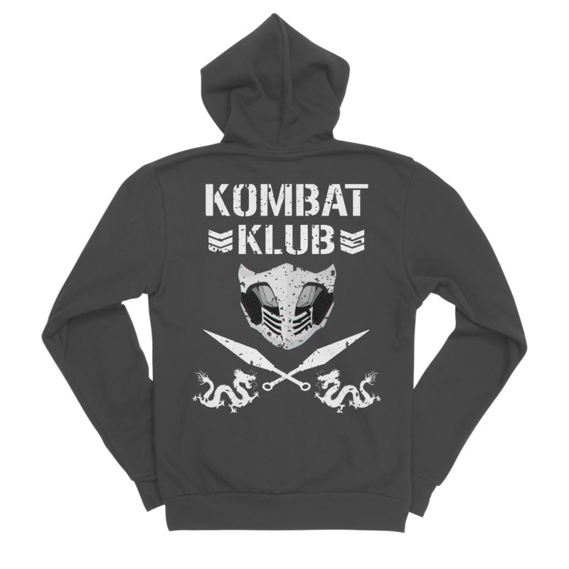KOMBAT KLUB Men's Sponge Fleece Zip-Up Hoody by DVCustoms's Artist Shop