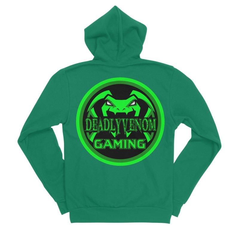 Deadly Venom Gaming Logo Men's Sponge Fleece Zip-Up Hoody by DVCustoms's Artist Shop