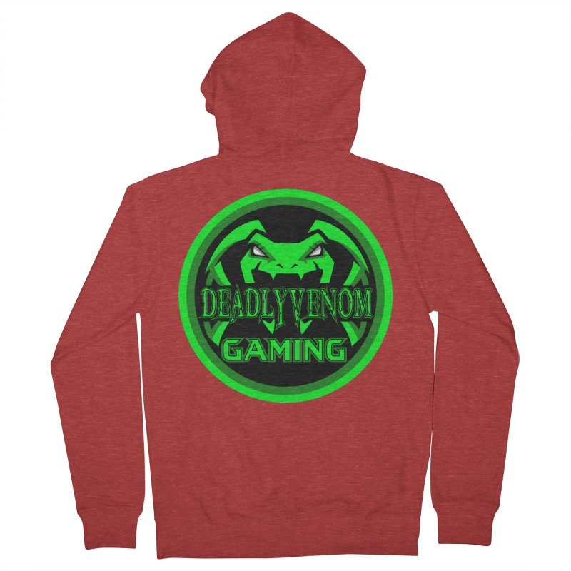 Deadly Venom Gaming Logo Men's French Terry Zip-Up Hoody by DVCustoms's Artist Shop