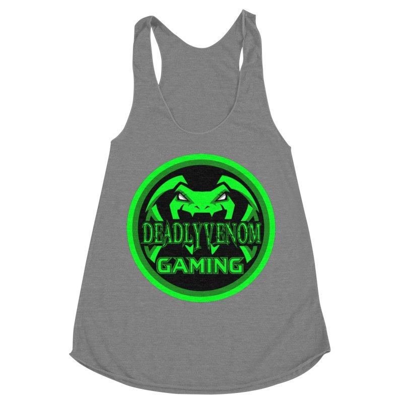 Deadly Venom Gaming Logo Women's Racerback Triblend Tank by DVCustoms's Artist Shop