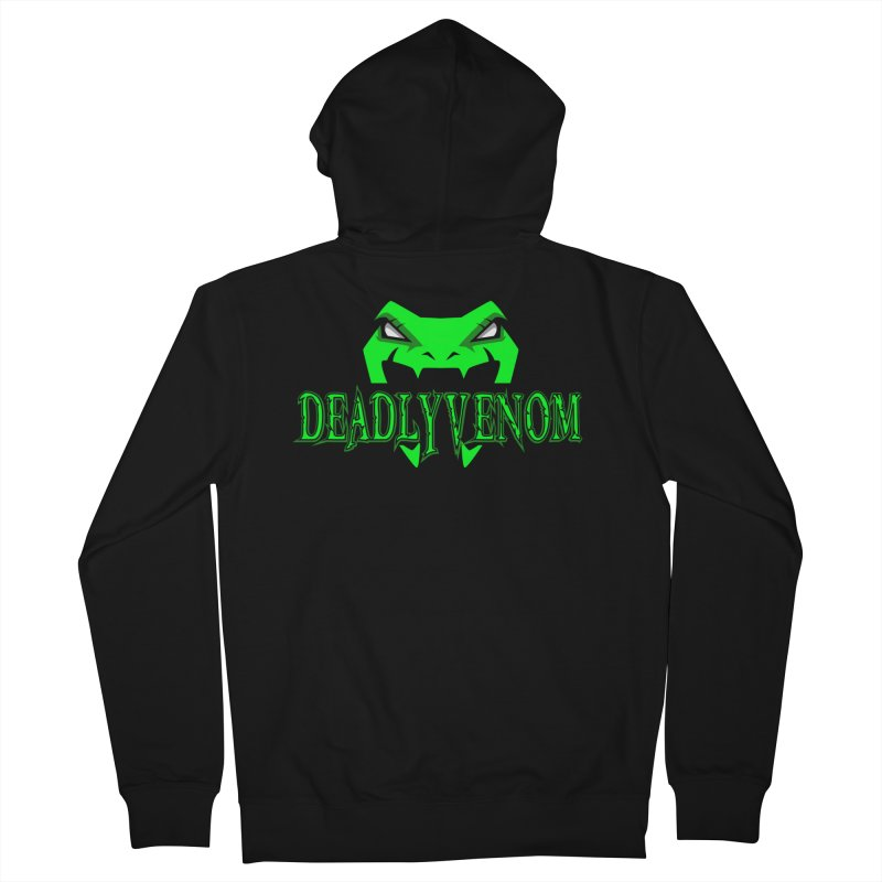 Deadly Venom Logo 2 Men's French Terry Zip-Up Hoody by DVCustoms's Artist Shop