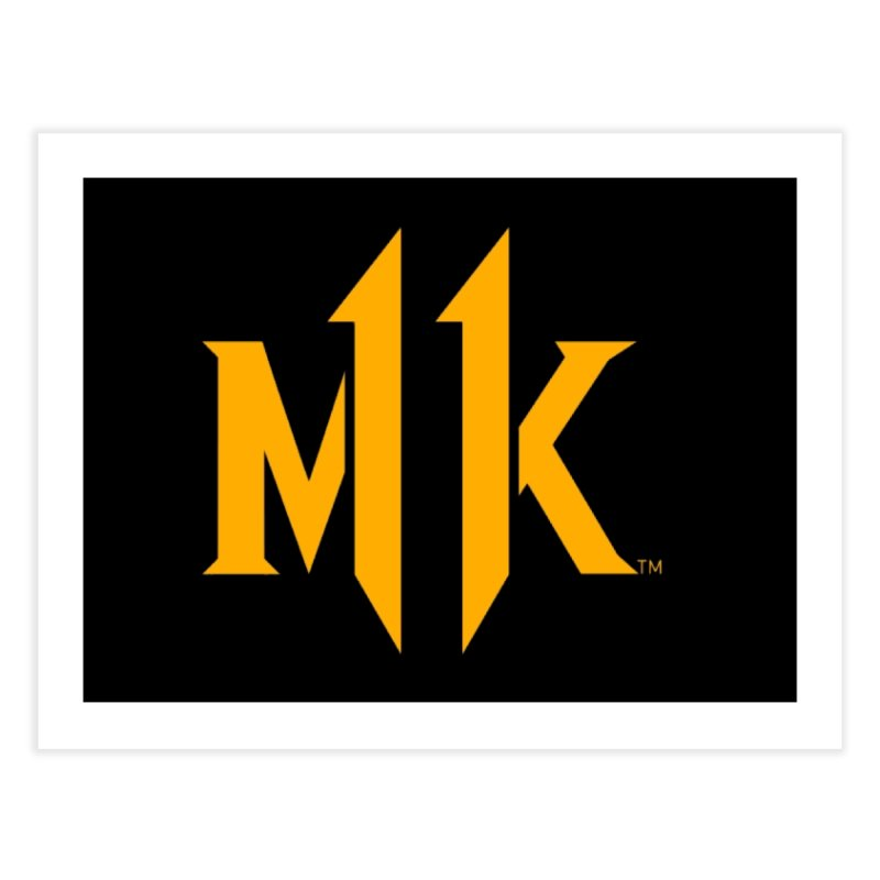 Mortal Kombat 11 Logo Home Fine Art Print by DVCustoms's Artist Shop
