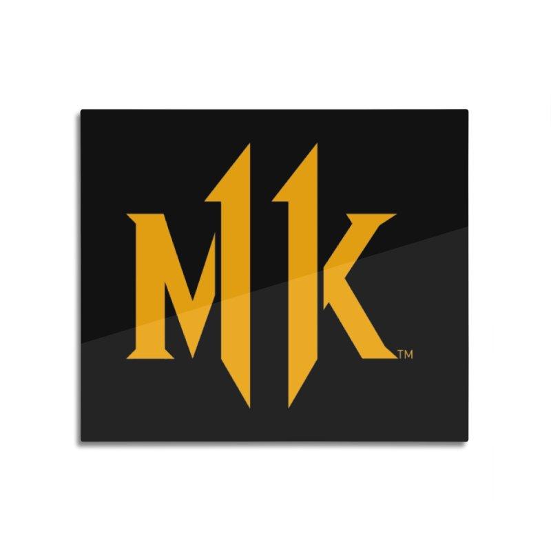 Mortal Kombat 11 Logo Home Mounted Aluminum Print by DVCustoms's Artist Shop