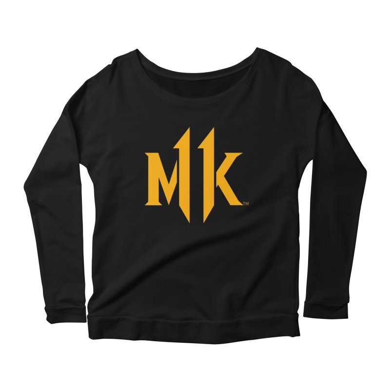 Mortal Kombat 11 Logo Women's Scoop Neck Longsleeve T-Shirt by DVCustoms's Artist Shop