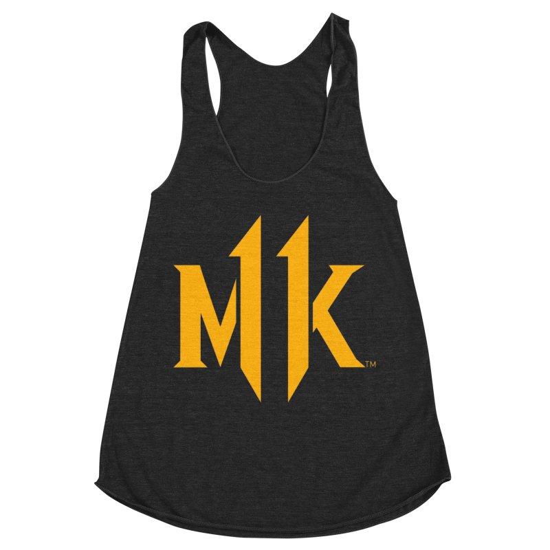 Mortal Kombat 11 Logo Women's Racerback Triblend Tank by DVCustoms's Artist Shop