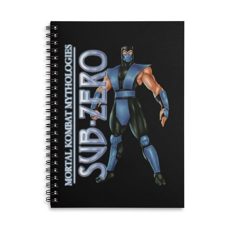 Mortal Kombat Mythologies Sub-Zero Accessories Lined Spiral Notebook by DVCustoms's Artist Shop