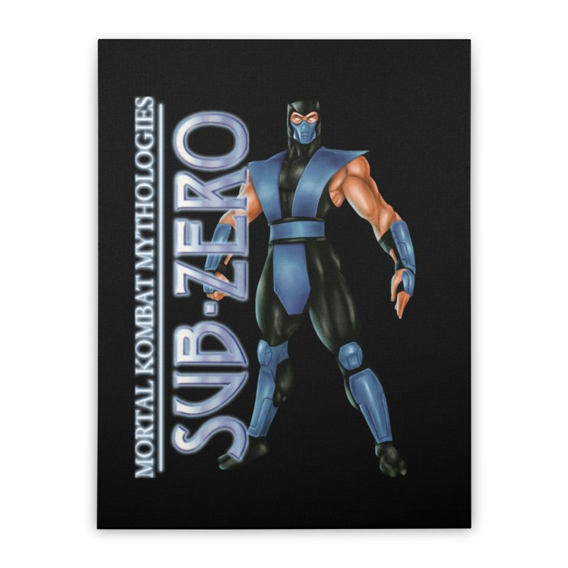 Mortal Kombat Mythologies Sub-Zero Home Stretched Canvas by DVCustoms's Artist Shop