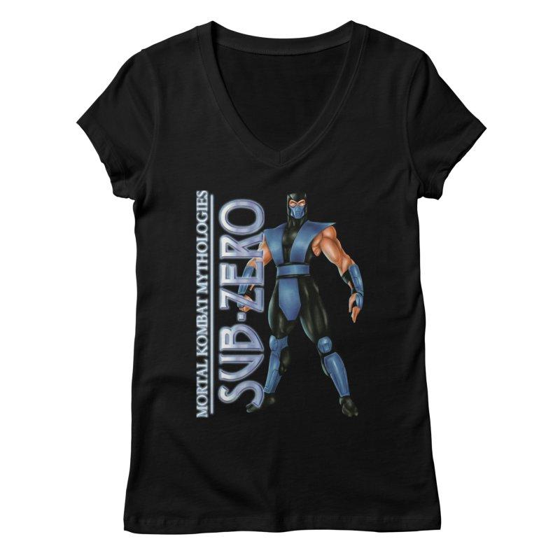 Mortal Kombat Mythologies Sub-Zero Women's Regular V-Neck by DVCustoms's Artist Shop