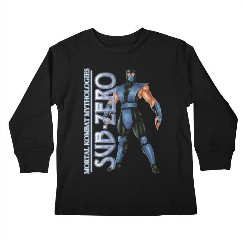 Mortal Kombat Mythologies Sub-Zero Kids Longsleeve T-Shirt by DVCustoms's Artist Shop
