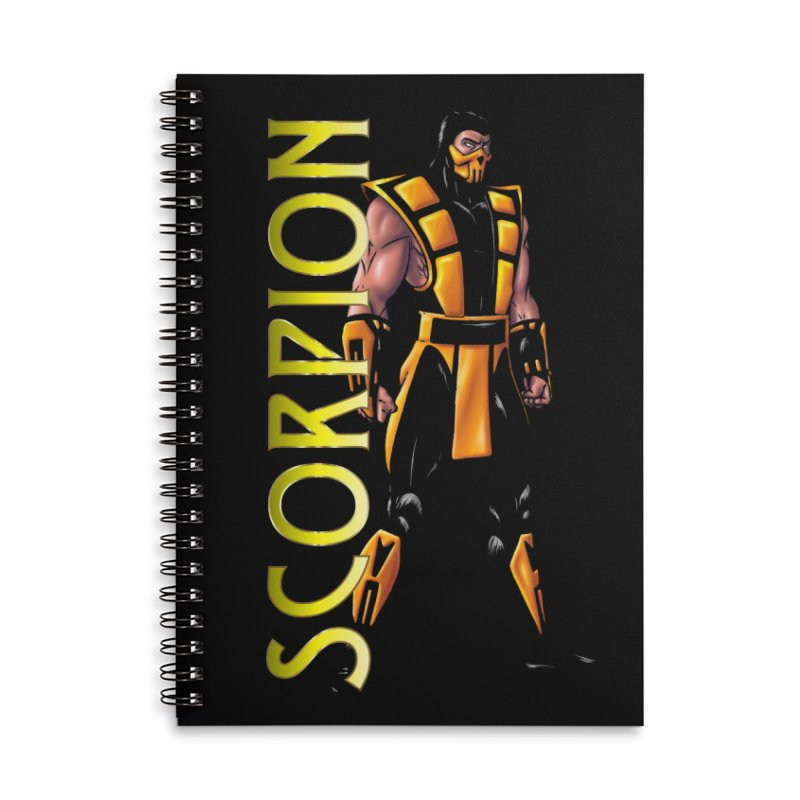 UMK3 Scorpion Accessories Lined Spiral Notebook by DVCustoms's Artist Shop