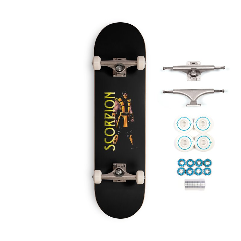 UMK3 Scorpion Accessories Complete - Basic Skateboard by DVCustoms's Artist Shop