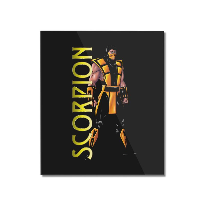 UMK3 Scorpion Home Mounted Acrylic Print by DVCustoms's Artist Shop