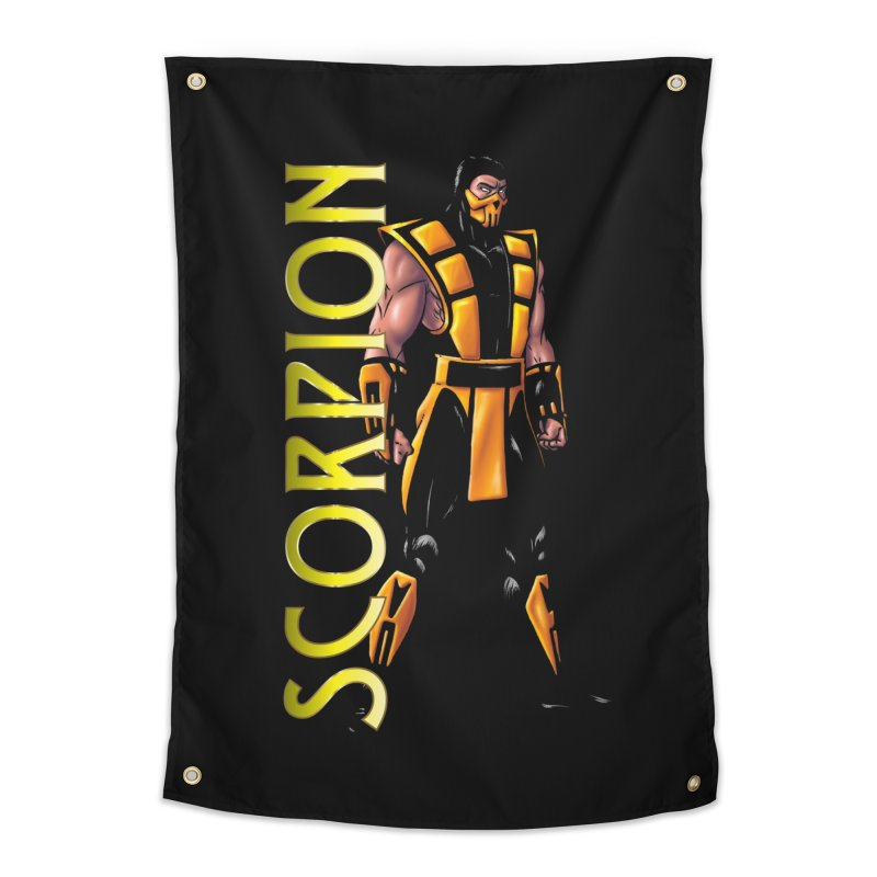 UMK3 Scorpion Home Tapestry by DVCustoms's Artist Shop